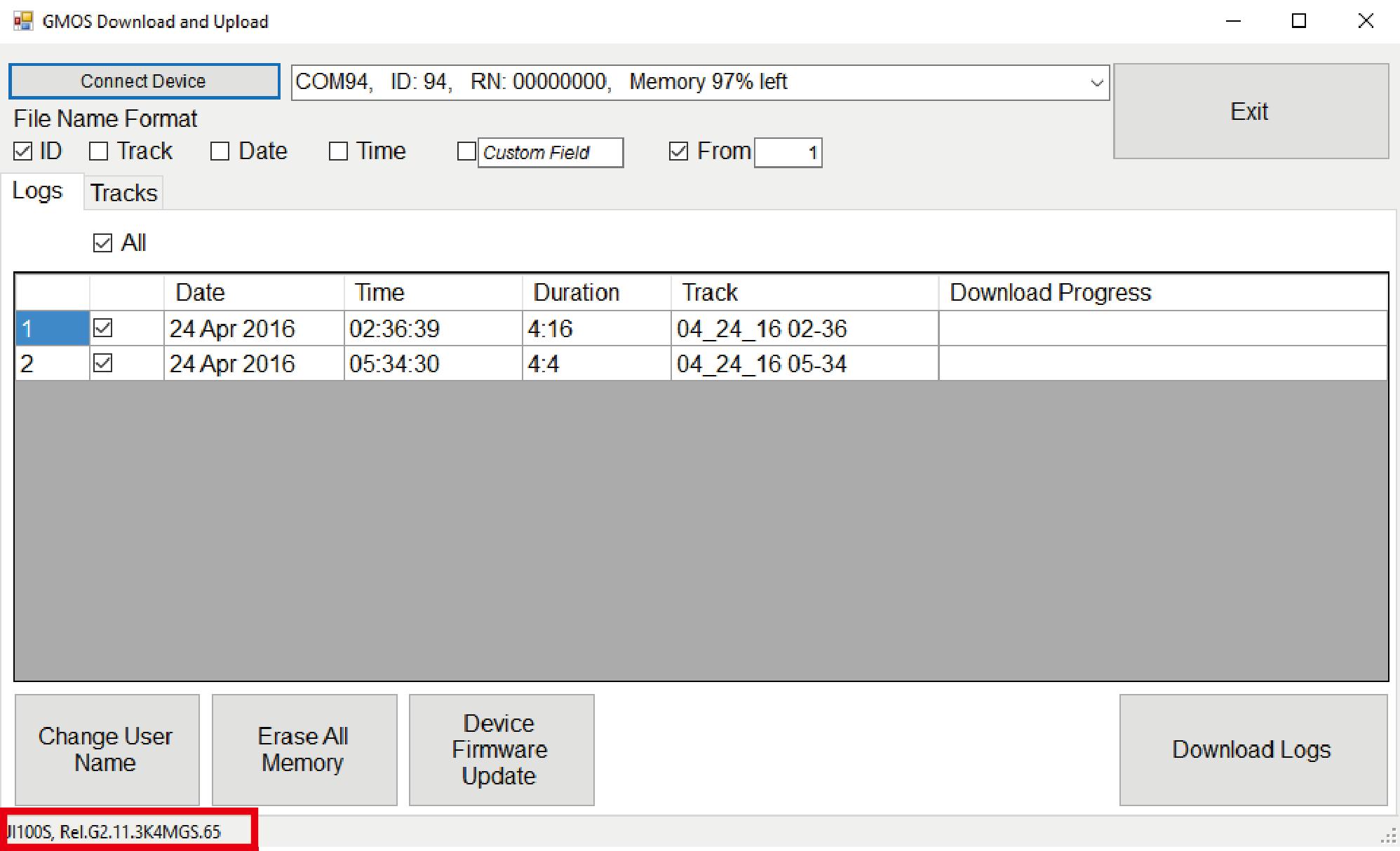 check firmware version